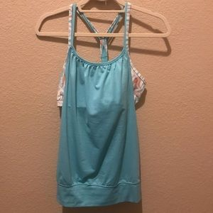 Soybu athletic tank top w/ attached sports bra MED